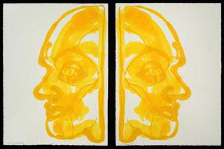 Inverted Double Portrait (Sun Man Reflector Epiphany Generator Magnet)