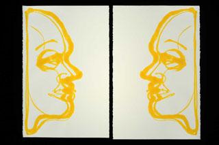 Yellow Men on Paper